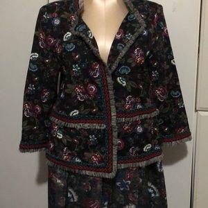 NWOT Loft outlet 12, Black jacket & skirt